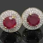 Image of Ruby and Diamond Earrings